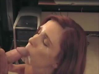 Cheating wife swallows cum porn