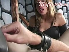 Blonde pro mistress fucks amateur ass
