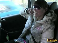 Kinky amateur chick Kristyna fucked for a free cab fare