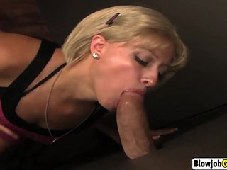 Blow job through the glory hole
