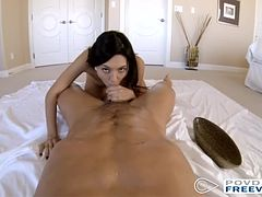 Sizzling Latina Serena Torres in hardcore sex in POV style with 3D sound